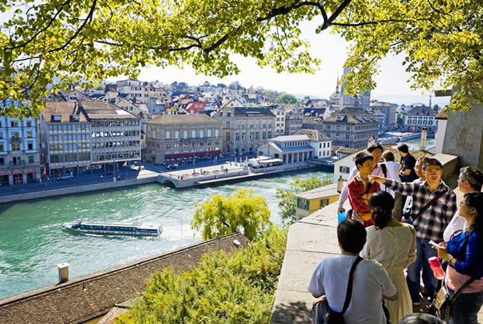 Lindenhof — or 'Auf dem Lindenhof' ('On the Lindenhof') — is a public square located in Zurich's old town (Altstadt), Switzerland, which also makes up Zurich's District 1 [Kreis 1]. The square allows for a fabulous view on the Limmat river, the Old Town, Grossmünster Church and City Hall, among others, and also was a venue for some historical events like the oath sealing of the Helvetic Constitution in 1798. It sits not very far away from Zurich's Münzplatz Square and Münsterbrücke.