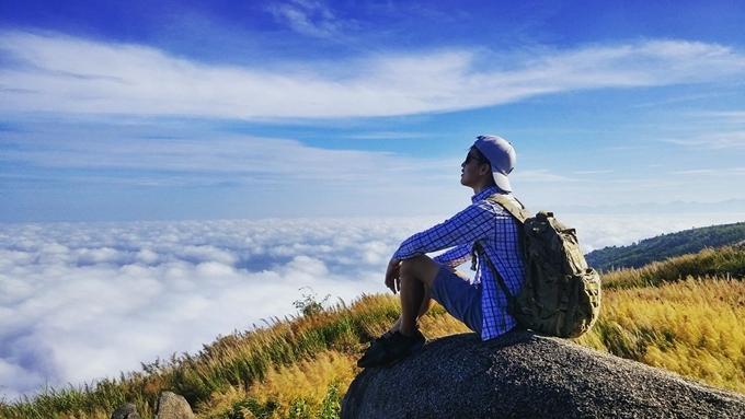 Trên đỉnh núi Chứa Chan. Ảnh Ngô Quang Tâm