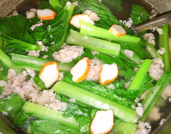 Canh cải ngọt thanh cua - 2