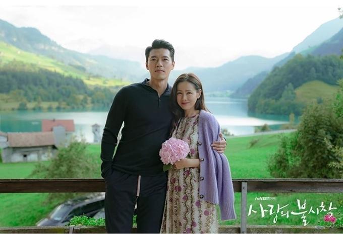 Sau khi bộ phim kết thúc tối 16/2, một số hình ảnh của cặp đôi chụp tại Thụy Sĩ được đài tvN tung ra.
