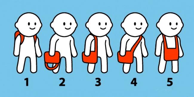 Cách đeo túi tiết lộ con người bạn.