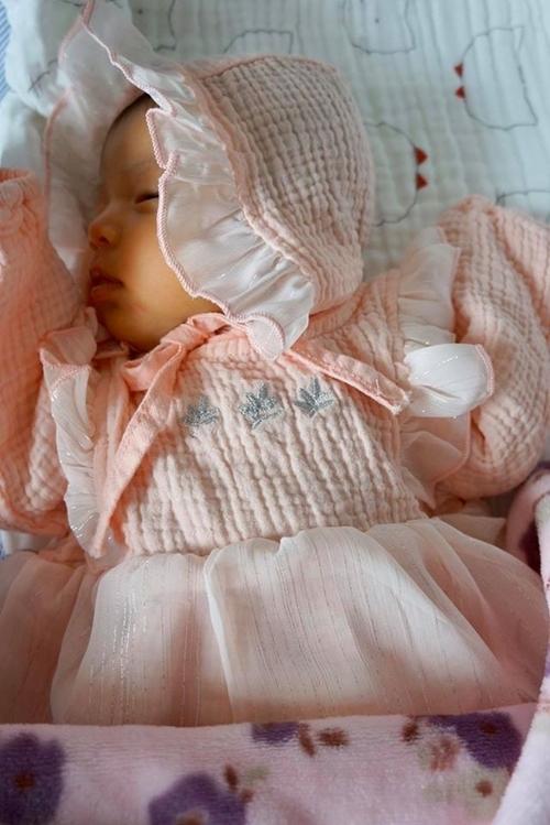 Chiều 13/1, Jennifer Phạm sinh bé gái nặng 3,3 kg tại một bệnh viện quốc tế Hà Nội. Trước đó, vợ chồng cô không bất ngờ khi nghe tin mang thai vì việc sinh thêm em bé đã nằm trong kế hoạch. Mới đây, người đẹp chia sẻ hình con lên trang cá nhân khi bé tròn một tháng tuổi. Người đẹp viết: Hôm nay con được một tháng tuổi. Ba mẹ chúc con yêu nhiều sức khỏe, chóng lớn, và mọi điều tốt đẹp nhất luôn đến với con trong cuộc sống. Jennifer Phạm tâm sự bé Nấm có mắt, mũi, miệng giống hệt bố. Các bé đều yêu thương em. Nhiều khán giả khen ngợi và gửi lời chúc đến con gái của người đẹp.