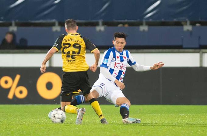 Văn Hậu liên tục được ra sân ở đội trẻ Heerenveen nhưng vẫn chưa thể có trận đấu ra mắt ở giải vô địch quốc gia Hà Lan. Ảnh: SCH.