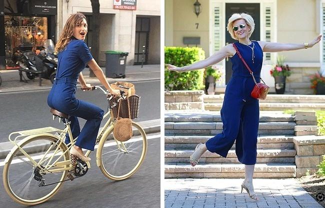 JumpsuitNếu bạn nghĩ jumpsuit chỉ dành cho giới trẻ, hẳn tấm hình bên phải sẽ khiến bạn thay đổi quan điểm. Khi được may với thiết kế kín đáo, sử dụng chất vải đanh, màu sắc nền nã, áo liền quần chính là gợi ý thú vị để phụ nữ trung niên làm mới bản thân.