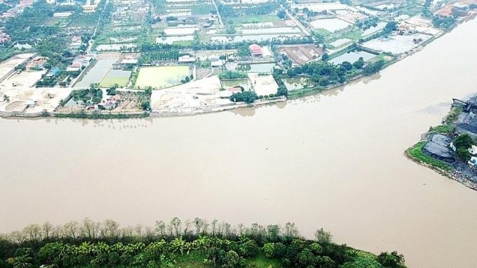 Vị trí bãi cọc được giăng tại ngã 3 sông- nơi giao nhau của 2 con sông Đá Bạch, Kinh Thầy và Đá Vách thuộc 3 tỉnh thành phố: Hải Phòng, Hải Dương và Quảng Ninh. Ảnh: Giang Chinh