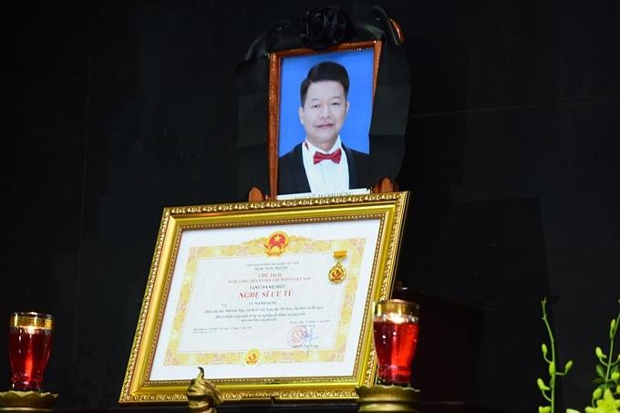 lễ viếng NSƯT Vũ Mạnh Dũng diễn ra tại nhà tang lễ số 5 Trần Thánh Tông (Hà Nội)