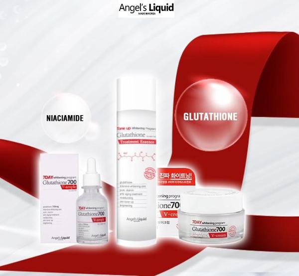 Ngoài serum dưỡng trắng, Angel's Liquid còn có các sản phẩm nhưnước làm sáng mịn, kem dưỡng nâng tông trắng hồng...