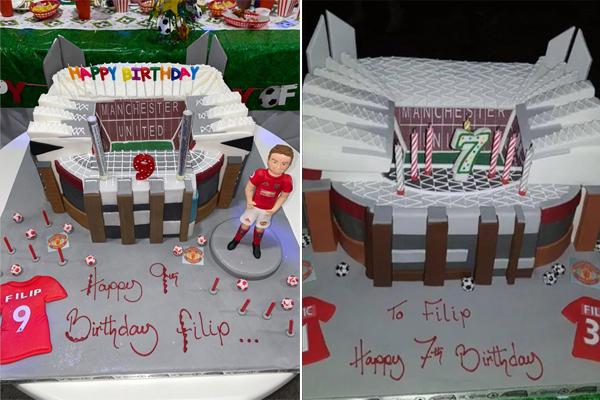 Bánh sinh nhật năm nay và hai năm trước của Filip