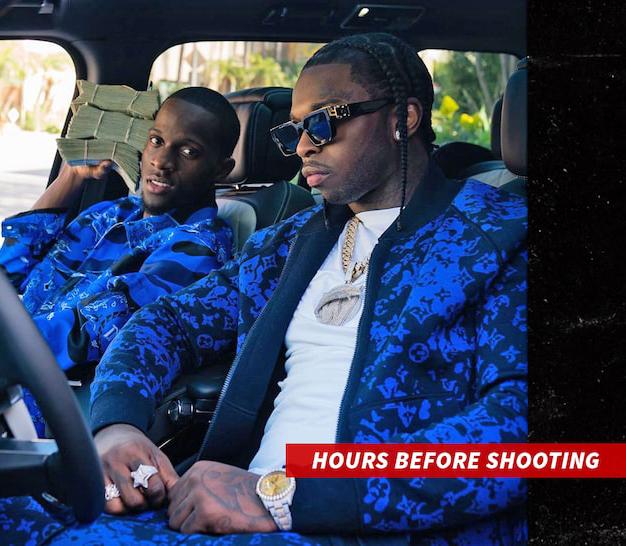 Rapper xấu số và người bạn vài giờ trước khi bị bắn.