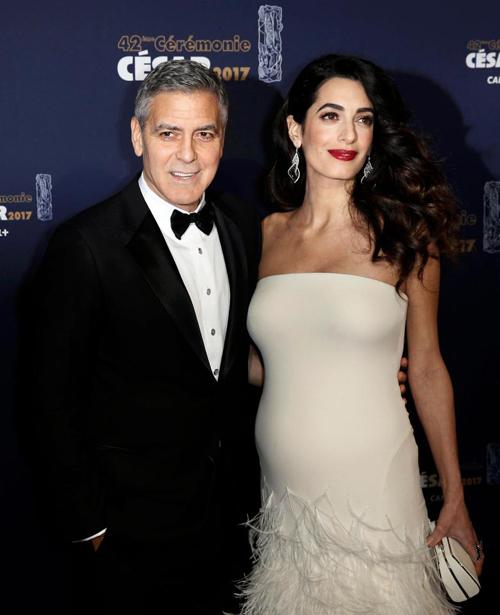 George Clooney và bà xã Amal Clooney.