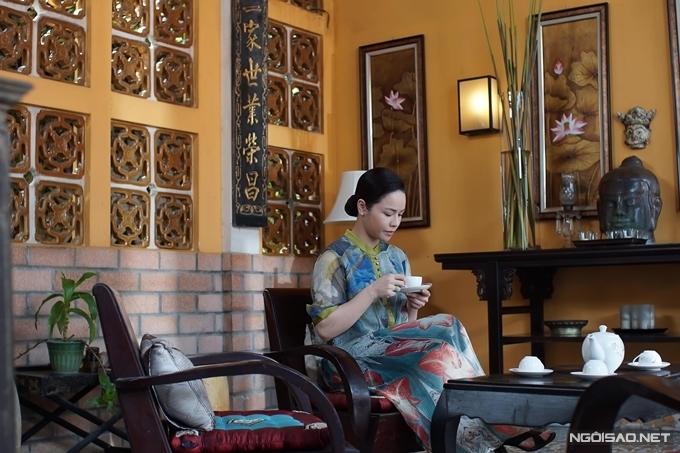 Nhật Kim Anh trong một cảnh quay tại đây hồi tháng 10/2019.