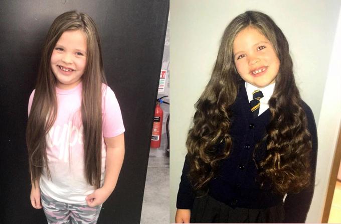Zienna khá ưng ý với kiểu tóc mới.