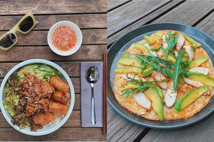 Tăng Thanh Hà thường nấu ăn và thưởng thức chúng ngay tại khuôn viên vườn xanh mát.