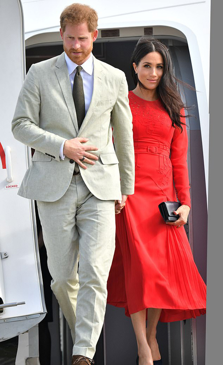 Vợ chồng Harry - Meghan sẽ chính thức rời hoàng gia vào cuối tháng 3 tới. Ảnh: Rex.