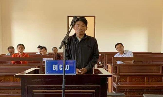 Bị cáo Hược tại tòa. Ảnh: H.L