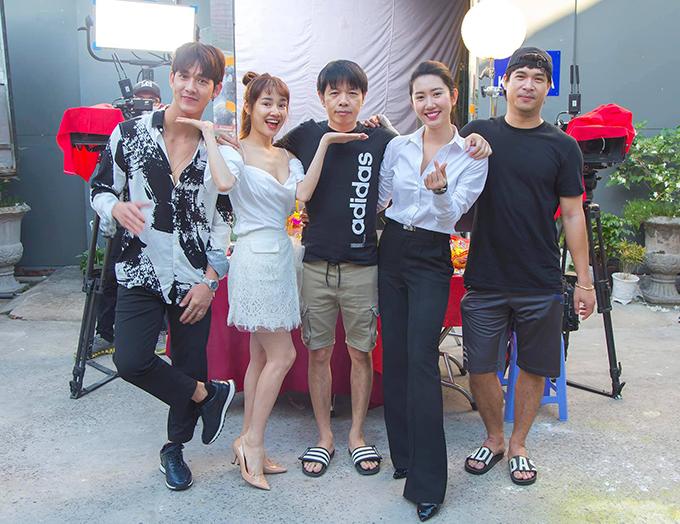 Nhã Phương hé lộ tái hợp cùng Song Luân, Thái Hòa, Thúy Ngân, Trương Thế Vinh trong một dự án phim mới.