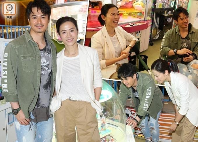 La Trọng Khiêm (áo xanh) - ông xã kém tuổi của Dương Di góp mặt cùng Tuyên Huyên. Đây là lần đầu, nam diễn viên để râu khi lên phim. Gần đây, anh nhận tin vui khi bà xã Dương Di mang thai con đầu lòng sau bốnnăm họ kết hôn.