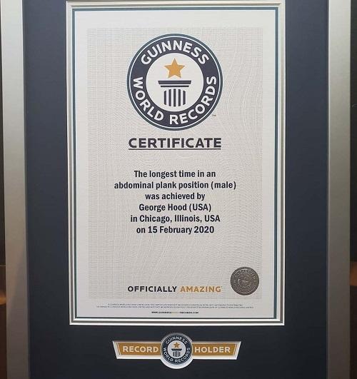 Kỷ lục Thế giới Guinness chứng nhận thành tích của George.