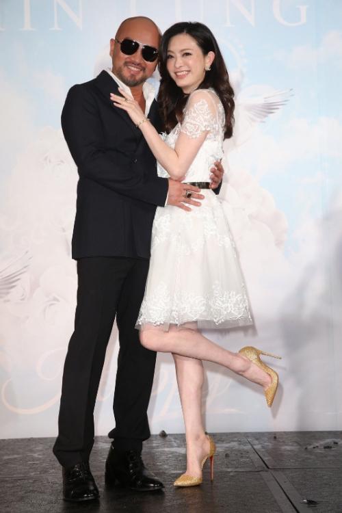 Diễn viên Lưu Chân và chồng.