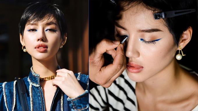 Layout trang điểm của Khánh Linh tại show Dior.