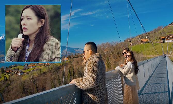Vũ Khắc Tiệp diễn cảnh tự tử hụt của Son Ye Jin ở Thụy Sĩ