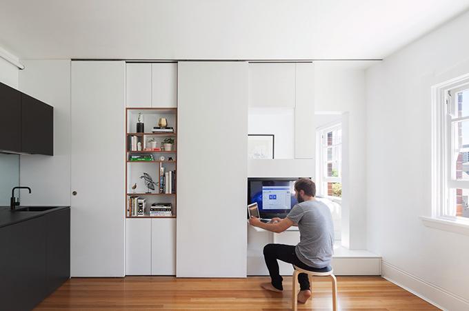 Căn hộ ở Darlinghurst, Australia có diện tích 27 m2, được hoàn thiện vào năm 2014 bởi nhóm kiến trúc sư (KTS) của Brad Swartz Architect.