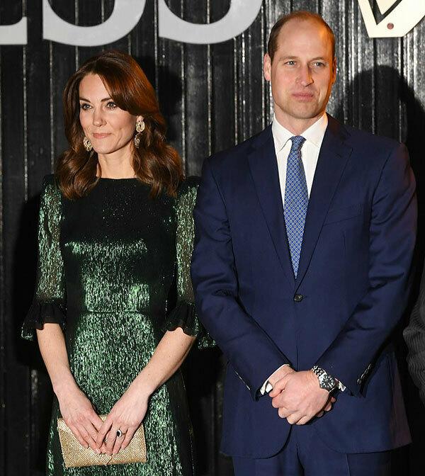 Hoàng tử William và vợ Kate Middleton tại Guinness Storehouse, Dublin, Ireland tối 3/3. Ảnh: EPA.