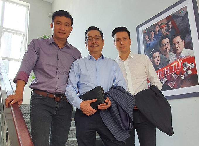 Giám đốc VFC, Đạo diễn Đỗ Thanh Hải và hai diễn viên - NSND Hoàng Dũng và Việt Anh.