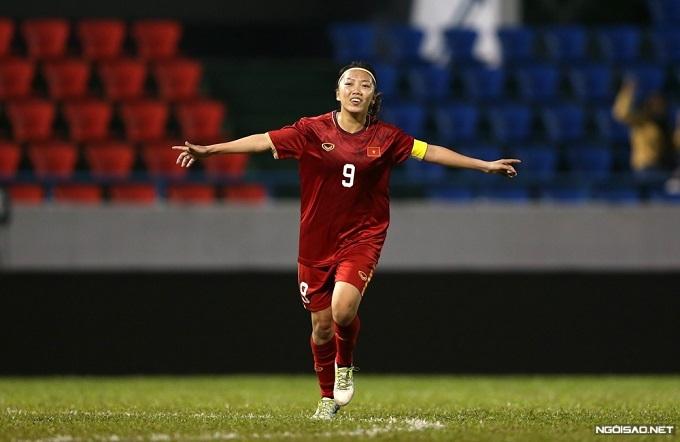 Niềm vui khi ghi bàn của Huỳnh Như.