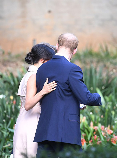 Prince Harry and Meghan visiting a creative industries and business reception at the High Commissioners residence in Johannesburg, South Africa in October 2019