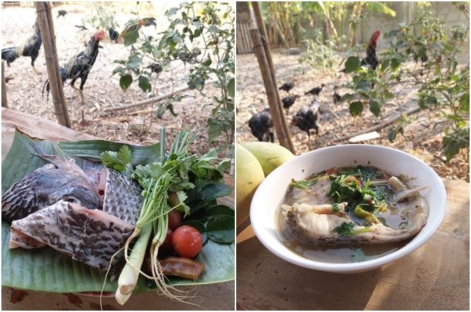 Canh chua cá Thái Lan của MissyNoklà món ăn được nhiều người theo dõi cô yêu mến nhất. Món ăn có một chút vị chua, ngọt, tương tự như tomyum Thái. Đặc biệt, người Thái thường giữ nguyên rễ ngò khi nấu canh để có mùi thơm hơn. Chỉ cần bạn rửa thật sạch cát trong rễ là ổn.