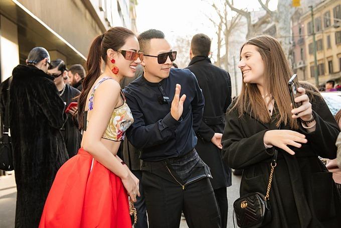 Vũ Khắc Tiệp từng tham dựtuần lễ thời trang tại Italy, hôm23/2.