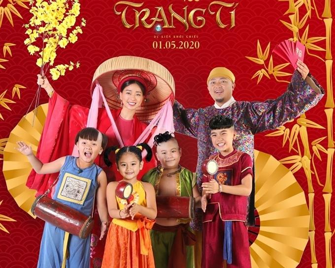 Ngô Thanh Vân, đạo diễn Phan Gia Nhật Linh và bốn sao nhí phim Trạng Tí.