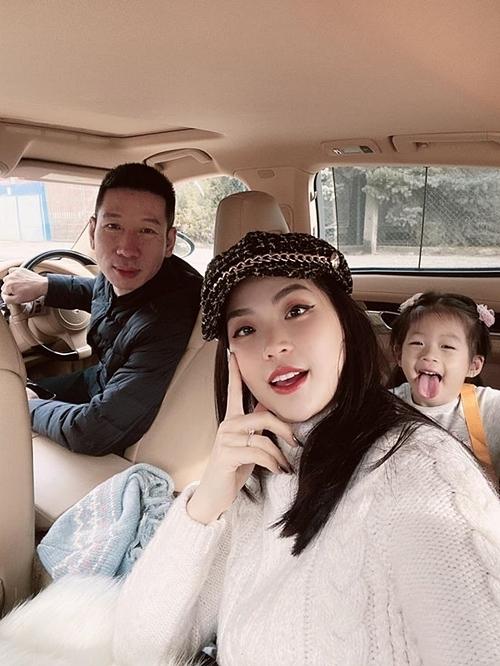 Gia đình á hậu Diễm Trang.