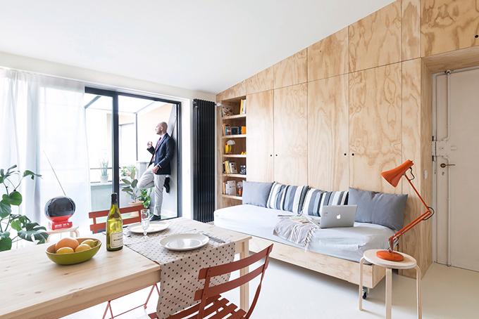 Căn hộ ở Milan, Italy có diện tích vỏn vẹn 28 m2, được hoàn thiện bởi studioWok năm 2015.