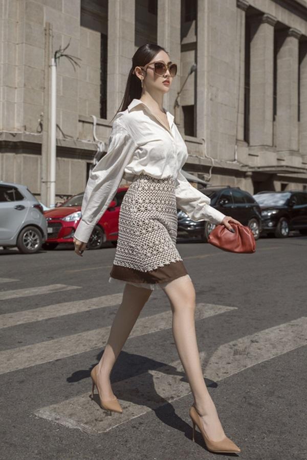 Á hậu Trúc Ny biến hóa với street style - 6