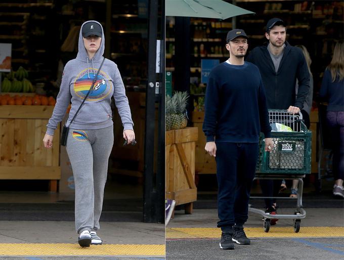 Katy - Orlando đi mua sắm đồ ăn dự trữ. Ảnh: Backgrid.