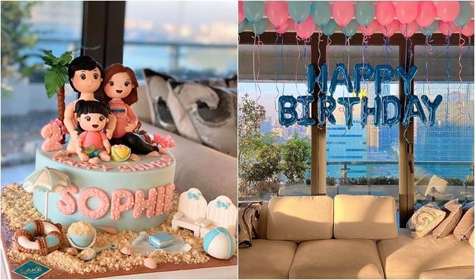 Đặng Thu Thảo đăng ảnh chúc mừng sinh nhật con gái.