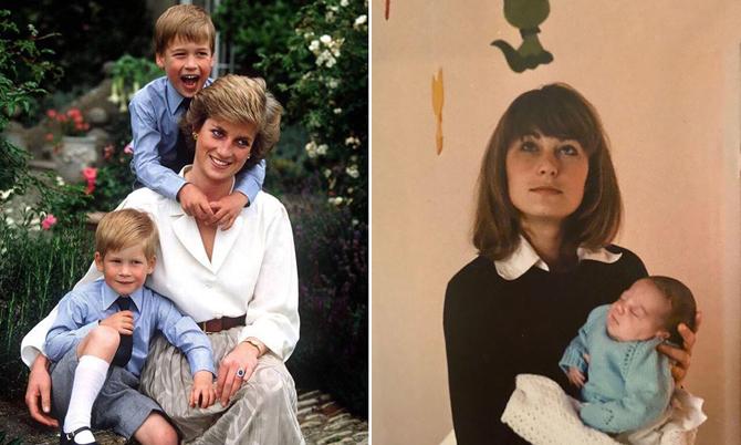 Ảnh thời thơ ấu của William - Kate bên mẹ. Ảnh: Kensington Palace.