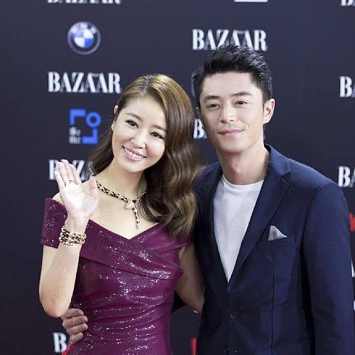 Cặp sao nổi tiếng Đài Loan Lâm Tâm Như, Hoắc Kiến Hoa.