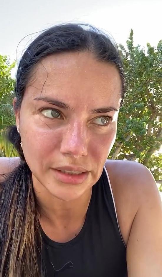 Cựu thiên thần nội y Adriana Lima đăng ảnh mướt mát mồ hôi khi tập thể dục.