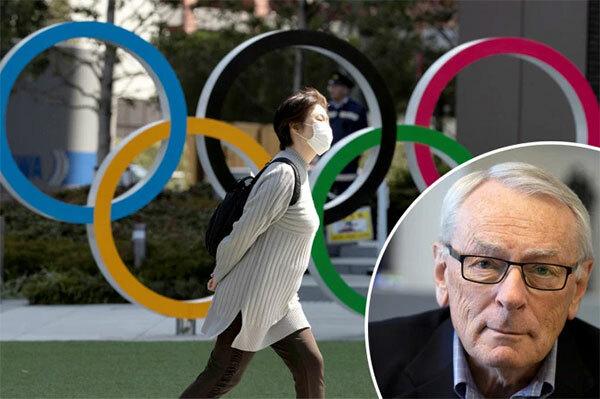 Thành viên IOC Dick Pound (ảnh nhỏ) tiết lộ rằng quyết định hoãn Olympic mùa hè 2020 đã được đưa ra. Ảnh: Sun.