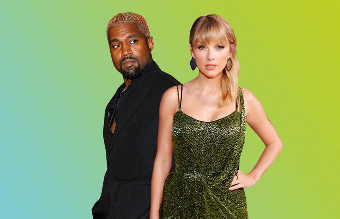 Taylor Swift và Kanye West.