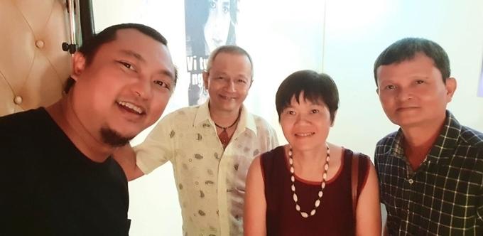 Từ trái qua: đạo diễn Phan Gia Nhật Linh, đạo diễn Quốc Trọng, đạo diễn Nhuệ Giang, đạo diễn Thanh Vân.