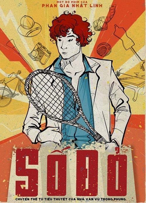 Poster tranh vẽ của phim điện ảnh Số đỏ.