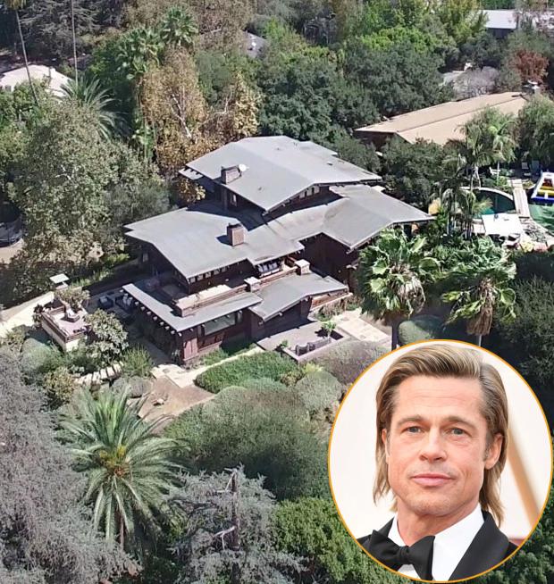 Khi các dự án phim và sự kiện đều phải dừng lại, Brad Pitt trú ẩn trong biệt thự riêng ở Los Feliz, Los Angeles. Nơi đây từng là tổ ấm của anh với Angelina Jolie và 6 người con. Từ khi ly hôn, ông Smith sống một mình tại ngôi nhà này.