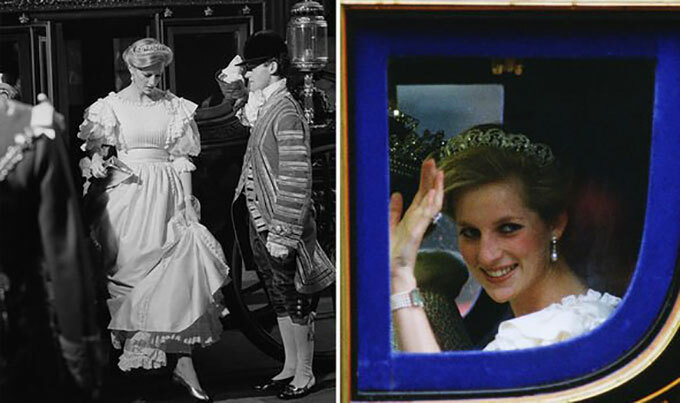 Công nương Diana dự khai mạc Quốc hội Anh vào tháng 11/1984. Ảnh: UK Press.