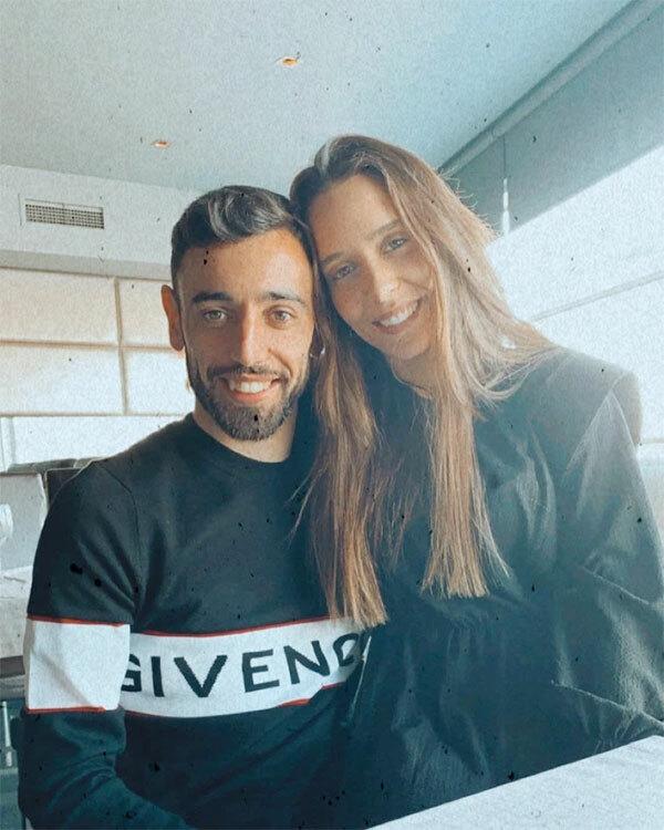 Bruno Fernandes và bà xã Ana Pinho yêu nhau