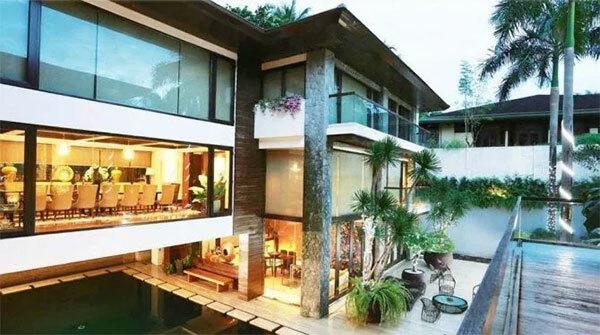 Biệt thự nhà Pacquiao nơi anh tổ chức tiệc hôm đầu tháng. Ảnh: Sun.