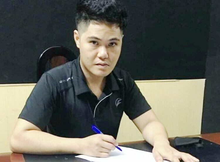 Nguyễn Sỹ Thắng tại cơ quan điều tra. Ảnh Công an Hải Phòng.